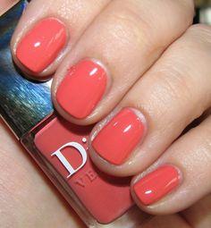Dior Bikini Nail Polish!  Click through for more pics, review and a comparison photo!