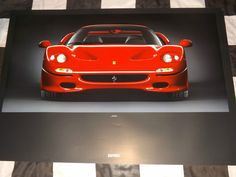 FERRARI F50 OFFICIAL WORKSHOP POSTER PRINT GARAGE SIGN 1995 RARE FACTORY PRODUCT