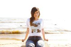 Kitty Crop Top/ Port Sanilac, Michigan / Stheart Clothing