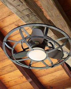 Alsace Outdoor Cage Ceiling Fan for rustic and barn style cabins and farmhouses. Also good for steampunk style rooms.