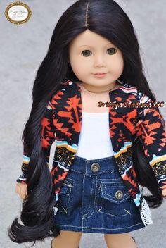 Premium Brand Custom 18 inch Doll wigs for American Girl Dolls Custom American Girl Dolls, American Girl Crafts, Custom Dolls, Doll Clothes Patterns, Clothing Patterns, Our Generation Dolls, Doll Wigs, Dolls For Sale, Diy Doll
