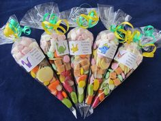 Personalised pre filled Dinosaur/s lge sweet/s cones party bag fillers/stocking