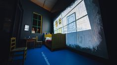 Through May 10, 2016, the Art Institute of Chicago will present Vincent Van Gogh's world-famous Bedroom paintings together for the very first time. The exhibit features rare masterworks together with a cinematic, projection-mapped recreation of Van Gogh's bedroom at Arles and custom interactive surfaces designed by award-winning creative agency Bluecadet.