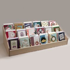 Organize your Handmade Cards with the Multi-Level Card Holder Gift Card Displays, Craft Booth Displays, Display Ideas, Booth Ideas, Vendor Displays, Market Displays, Jewelry Displays, Display Stands, Greeting Card Holder