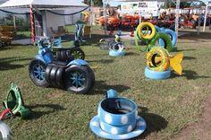 Arte em pneus
