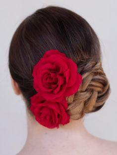 Classic Rose Bridal Wedding Bride Hair Flower by HairComestheBride