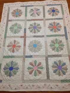 "2014 ""Block of the Month"" Fabric from Ashville House Quilt Shop Designed & sewn by Ola Head Quilted by Joan at Out of the Box in Boaz"