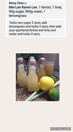 Lemongrass, lemon lime drink