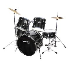 Mendini MDS100-BK Complete Full Size Senior 5-Piece Black Drum Set with Cymbals, Drumsticks and Throne by Mendini. $305.97. Mendini by Cecilio MDS100 5-piece senior drum set is a complete functional drum set designed for adult/full size drummers. Assembly Required.. Save 62% Off!
