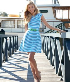 Lilly Pulitzer Spring 2013 - Briella Dress in Chin Chin stripe and Kat Kitten Heel. Shop this look: http://www.lillypulitzer.com/ensemble/entity/49387-47290.uts?img=5