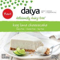 Key Lime Cheezecake by Daiya – VeganEssentials Online Store Vegan Pie, Vegan Foods, Vegan Recipes, Vegan Cheesecake, Vegan Meals, Gluten Free Crust, Dairy Free Cheese, Key Lime, Vegan Products