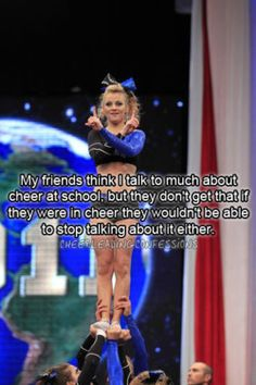 Ohh thats me! Talking about Cheerleading! Ohh thats me! Talking about Cheerleading! Cheerleading Memes, Cheerleading Photos, Cheer Stunts, Cheer Dance, Competitive Cheerleading, Cheer Athletics, Cheerleader Quotes, Cheerleader Gift, All Star Cheer