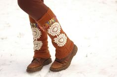 Upcycled Legwarmers Womens Felted Angora Wool by acornolyphant, $36.00
