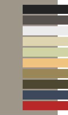 Pantone 16-1107 Aluminum + Dark Autumn colors