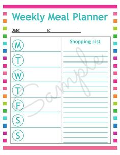 Free blank meal planning sheet and lots of great meal planning tips!
