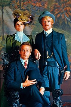 robert redford, paul newman, kathreen ross in butch casidy and the sun dance kid
