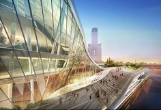 Image 8 of 12 from gallery of Kaohsiung Port and Cruise Service Terminal Competition proposal / HMC Architects. Courtesy of HMC Architects Interior Architecture, Interior And Exterior, Airport Design, Airport Transportation, Building Design, Proposal, Competition, Cruise, Around The Worlds