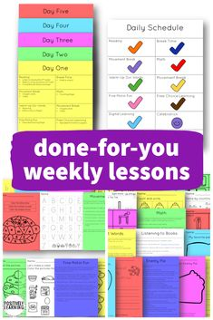 Special Education Weekly Lesson Plans are designed to be used for home distance learning, extra practice throughout the school day, or as substitute lessons. This is set one - simply print or upload.