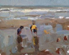 Roos Schuring, Seascape Summer 4, Olieverf op paneel, 24x30 cm, €.750,-