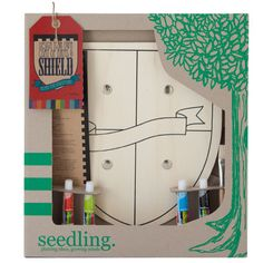 Design Your Own Wooden Shield by Seedling.com