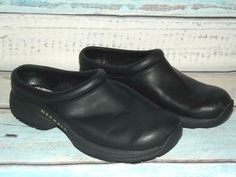 8150579b617d MERRELL Jungle Primo Black Leather Slip On Mocs Womens Size 9  fashion   clothing  shoes  accessories  womensshoes  flats (ebay link)