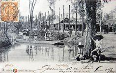 Barrio de Santa Anita, al oriente de la Ciudad de México. Foto tomada en 1905.