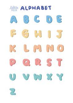 Stickers Kawaii, Cute Stickers, Alphabet Stickers, Printable Stickers, Printable Scrapbook Paper, Alphabet Print, Journal Stickers, Planner Stickers, Memo Notepad