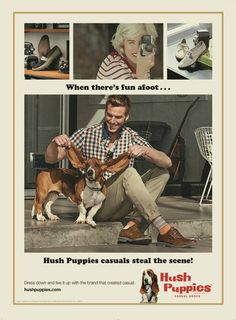 Vintage Hush Puppies ad