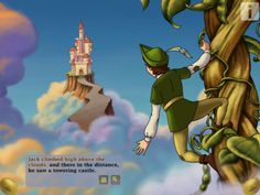"""Editors' take: The title Jack and the Beanstalk Children's Interactive Storybook for iPad says it all. The """"interactive"""" part comes in the form of games, Jack And The Beanstalk, Learning Apps, Kids Education, Childrens Books, Fairy Tales, Animation, Children Activities, Reading Activities, Grandkids"""