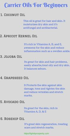Best carrier oils to use with your essential oil. - - Best carrier oils to use with your essential oil. Best carrier oils to use with your essential oil. Essential Oil Carrier Oils, Essential Oils Guide, Essential Oil Uses, Doterra Essential Oils, Essential Oils For Pain, Carrier Oils For Skin, Essential Oil Recipies, Edens Garden Essential Oils, Essential Oil Beginner
