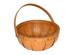 splint oak basket gathering swing handle hand made sturdy apple