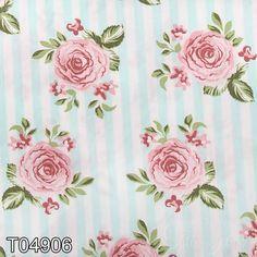 Tecido Patchwork Fabricart T04906 Rosa Fundo Listrado 0,50x1,46 mt