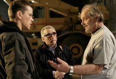Jack Nicholson ,Matt Damon,and Martin Scorsese on-set of The Departed (2006)