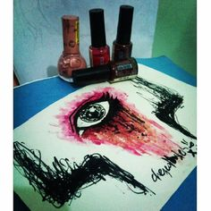 """""""Art is not what you see, but what you make others see. It doesn't matter what materials you use. Let your imagination take you! Edgar Degas, Imagination, Artworks, Nail Polish, Sketches, Eye, Drawings, Instagram Posts, How To Make"""
