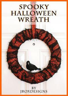 EASY Halloween wreath! #halloween #wreath #craft