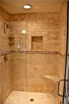 Bathrooms on pinterest tile shower designs and tile showers