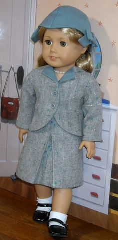 1940's Wool Suit with Hat for 18 inch by SugarloafDollClothes