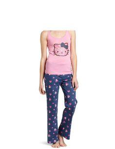 a02e821b7 Hello Kitty Women's Hk Enchanting Blues Tank And Pants Pajama Set Cozy  Pajamas, Flannel Pajamas