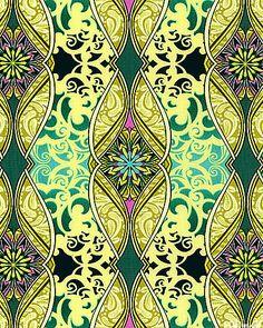 Star of Hope - Ornamental Flow - Lemon Chiffon