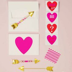 Hearts & Arrows Card Kit