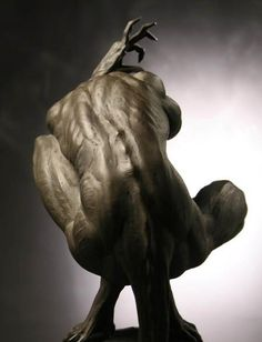 """Power Struggle"" bronze statue by Jose Ismael Fernandez Human Sculpture, Lion Sculpture, Arte Obscura, Poses References, Art Plastique, Figure Drawing, Figurative Art, Dark Art, Oeuvre D'art"