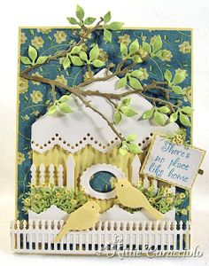 Check out the deal on Fence Trio Die Set at Impression Obsession Rubber Stamps Diy Paper, Paper Crafts, Card Crafts, Card Making Designs, Impression Obsession, Window Cards, Scrapbooking, Die Cut Cards, Bird Cards