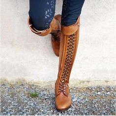 Thick Heel Boots, Low Heel Boots, Thick Heels, Flat Boots, Low Heels, Knee High Boots, Heeled Boots, Long Boots, Lace Up Heels