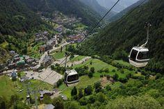 Arinsal village, Andorra Ski gondola to Arinsal village.