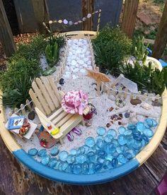 miniature beach garden, container gardening, crafts, gardening, how to
