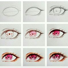 63 New Ideas Drawing Tutorial Anime Eyes Eye Drawing Tutorials, Drawing Techniques, Art Tutorials, Manga Tutorial, Sketches Tutorial, Eye Tutorial, Realistic Eye Drawing, Manga Drawing, Drawing Eyes