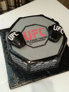 UFC themed grooms cake