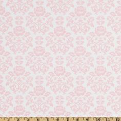 Pimatex Basics Damask Baby Pink/White from @fabricdotcom  From Robert Kaufman Fabrics, this cotton print fabric is perfect to use for quilt or craft projects, apparel and home décor accents. Colors include white and pink.