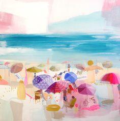 Teil Duncan | Bubble Gum Beach 36x36 Acrylic painting