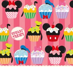 Disney Plush, Disney Tsum Tsum, Disney Diy, Disney Crafts, Disney Food, Disney Clay Charms, Cupcake Crafts, Circle Crafts, Disney Scrapbook Pages